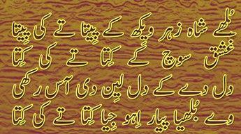 Bulleh Shah Punjabi Poetry, 'Zehar Vekh Ke Peeta tay Ki Peeta'-Sufi kalam of Baba of Bulleh Shah