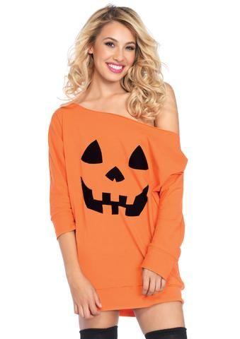 7c9ef04557c0 Jersey Pumpkin Dress Diy Halloween Kostymer För Kvinnor, Gullig Halloween,  Dräkter För Vuxna,