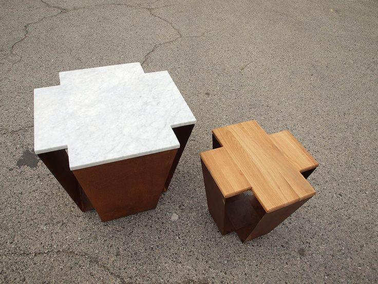 Corten lamp shade. At KENDU Design we created patinated corten steel furniture collection. Everlasting material combination, 100 years lifespan. www.kendudesign.com.