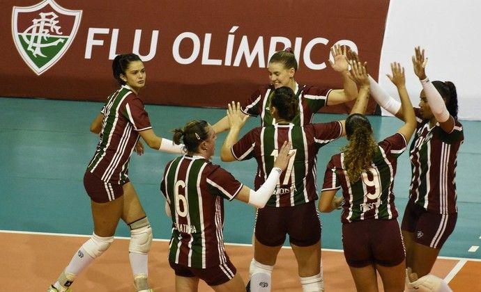 Fluminense campeão carioca de vôlei feminino (Foto: Reprodução / Twitter)