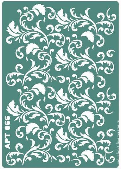 Трафарет 066 - зелёный,трафарет,трафареты,материалы для творчества,Декупаж