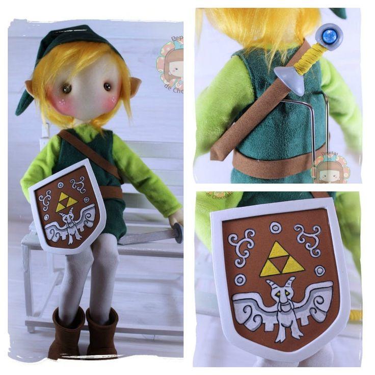 Muñeca Pepita Toon Link 42 cm. Toon Link doll 16'' de PepitasdeChocolate en Etsy