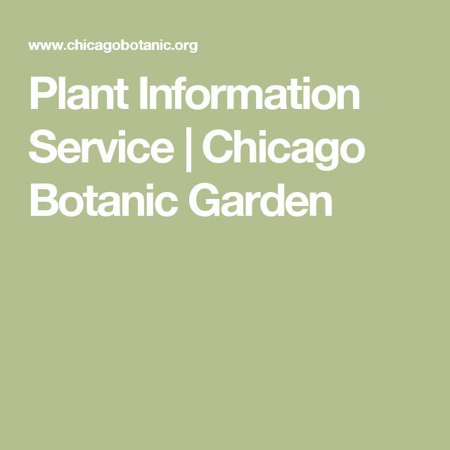 Plant Information Service | Chicago Botanic Garden
