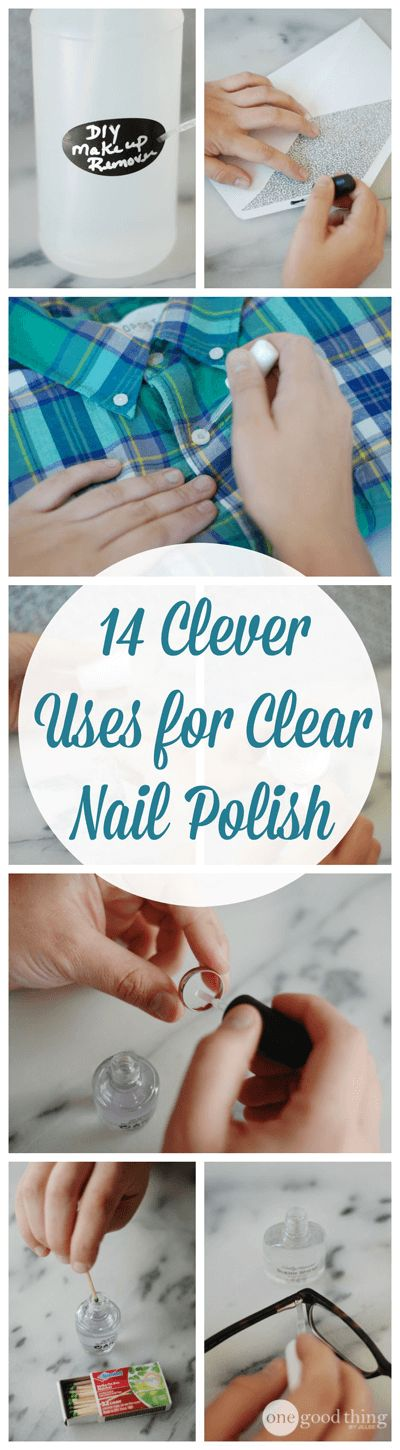A few years ago I started getting my nails done by a professional (Hi Erin!) so I don't really have any reason to keepbottles of nail polish around the house. But I always make sure I have at least one bottle of clear nail polish on hand because it has so many other uses besides …