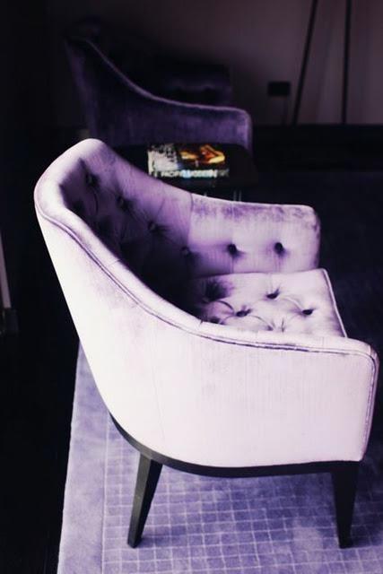Yesss, purple.Colors Purple, Velvet Chairs, Decor Ideas, Shades Of Purple, Purple Velvet, Living Room, Violets, Purple Haze, Purple Chairs