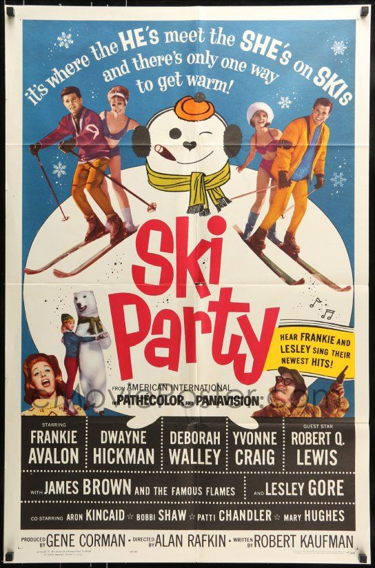 eMoviePoster.com: 7y792 SKI PARTY 1sh 1965 Frankie Avalon, Dwayne Hickman, where the he's meet the she's on skis!