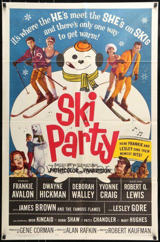 eMoviePoster.com: 7y792 SKI PARTY 1sh 1965 Frankie Avalon, Dwayne Hickman, where the he's meet the she's on skis!