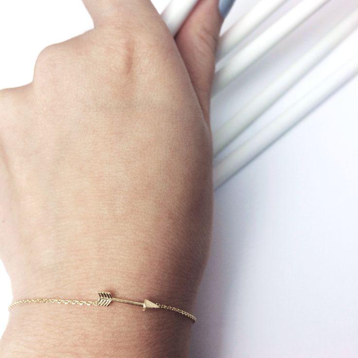 | Arrow bracelet from our fine collection |  www.pinchandfold.com #jewellery #jewelry #handmadejewelry #arrow #cute #pretty #stylish #finecollection #bracelet