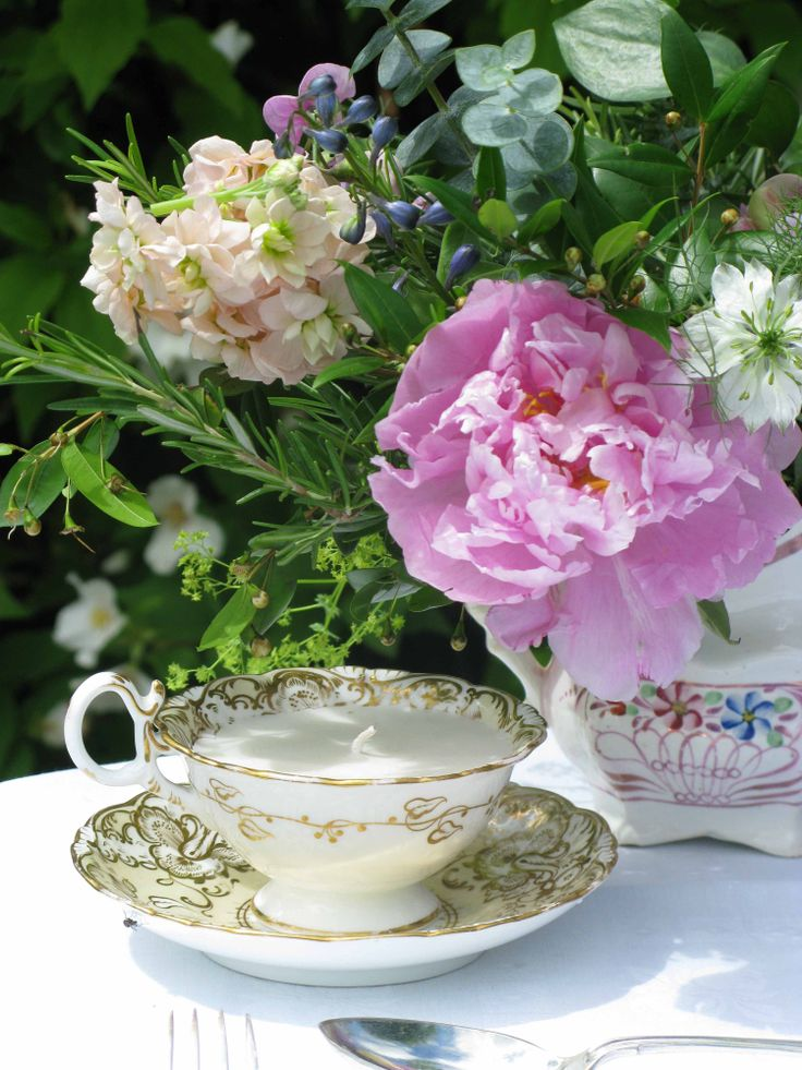 My favourite era! A gorgeous enameled Regency footed teacup and saucer with pink Sunderland lustre milk jug c 1830...