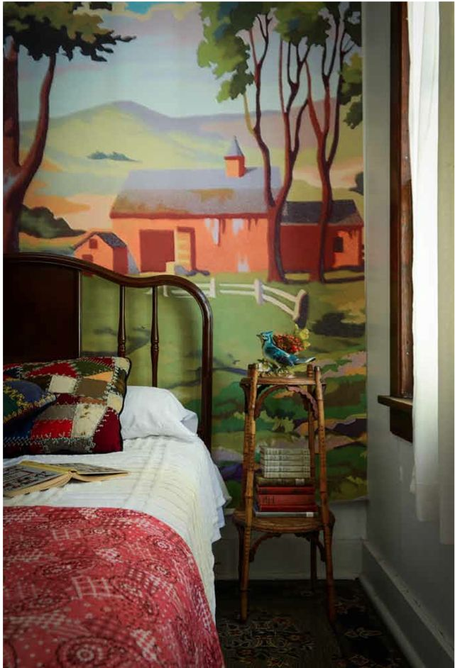 Camp style bedroom love paint by numbers coastal - How to paint murals on bedroom walls ...