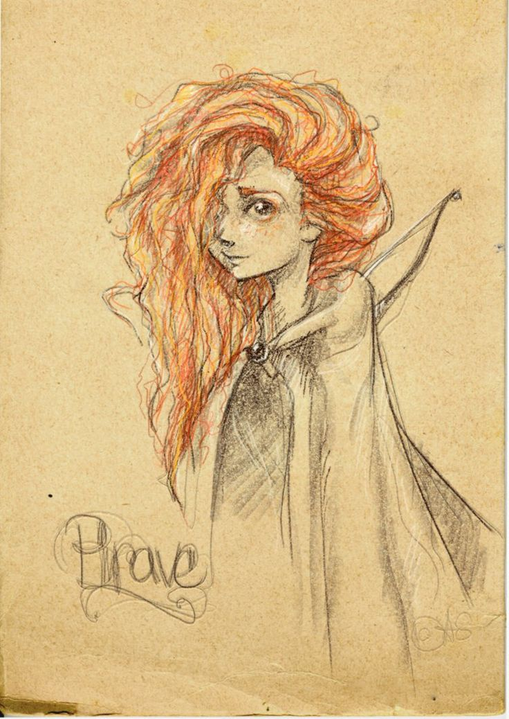 Beautiful picture of Merida. She could provide so much inspiration. I love what this drawing captures!