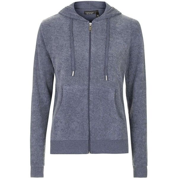 TOPSHOP Brushed Zip Up Hoodie ($39) ❤ liked on Polyvore featuring tops, hoodies, navy blue, zip up hooded sweatshirt, topshop, zip up hoodies, navy sweatshirt hoodies and hooded pullover