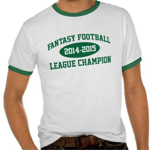 Awesome 39 fantasy football league champion 39 t shirt cool for Cool football t shirts