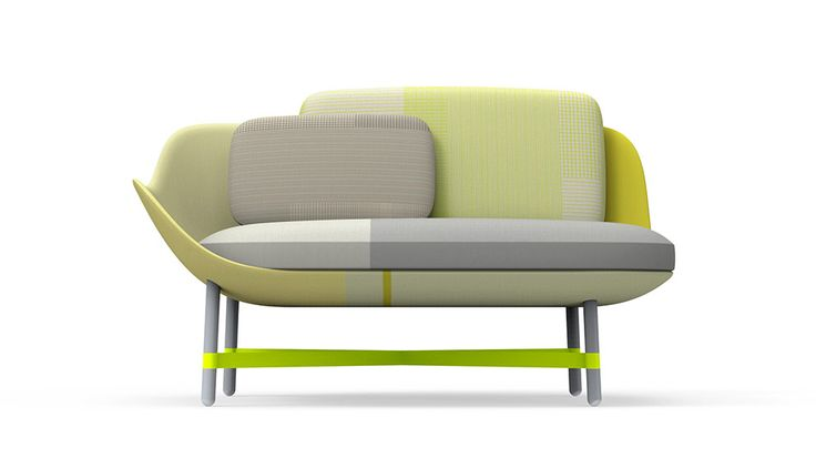 """For """"Ottoman"""", Scholten & Baijings have returned to the typology of the sofa-like seating bench, but given it a contemporary look and feel."""