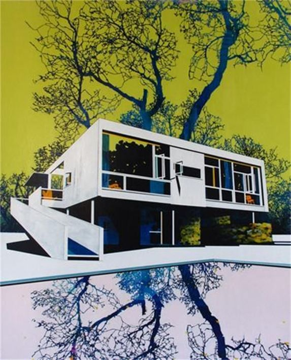 Seidler Tree And Pool Acrylic On Linen 153 X 122cm By Paul Color InspirationArchitectural DrawingsArchitectural