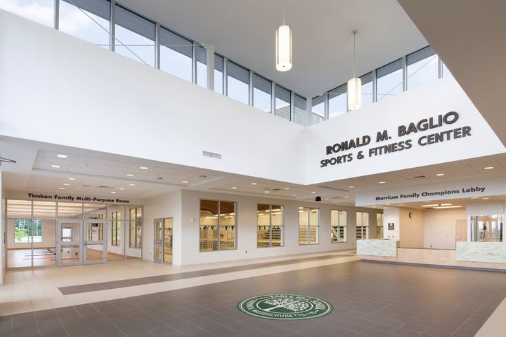 Entrance Lobby of the Ronald M. Baglio Sports and Fitness Center at the Eagle Hill School located in Hardwick, MA