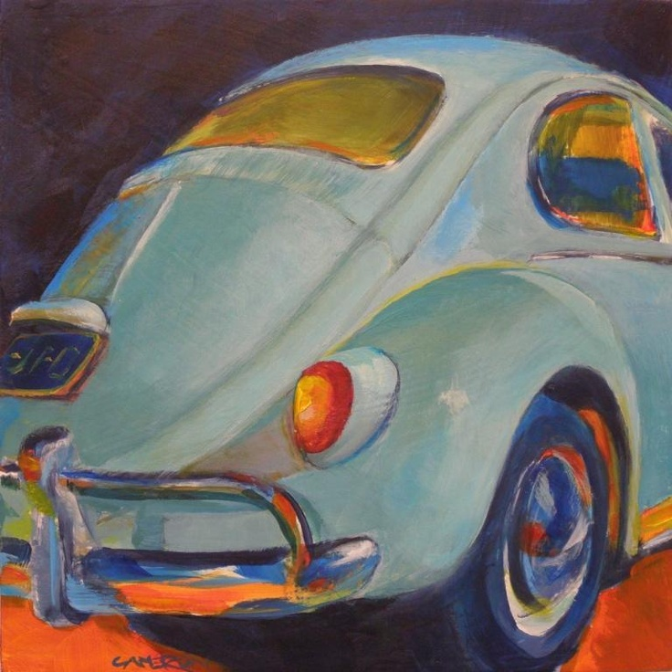 Brian Cameron's Daily Paintings: June 2012  I had a 1968 Baby Blue VW Beetle in the mid 1970s. It burnt more oil than gasoline, but I loved that little car.  The VW gave me a taste of the freedom of the road.