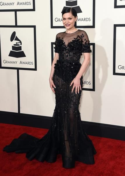 Grammys 2015 Red Carpet Arrivals - Jessie J from #InStyle