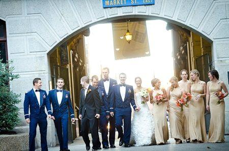 navy champagne wedding | Francesca and Tyler in Philadelphia, Pennsylvania : Brides