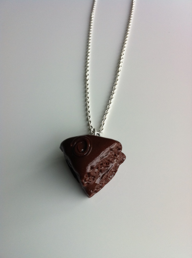 Rich Chocolate Cake Necklace