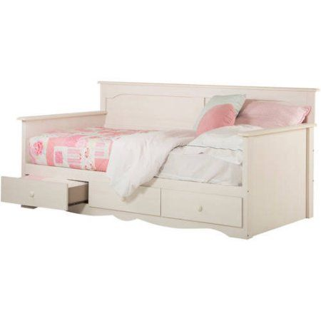 South Shore Summer Breeze Twin Daybed with Storage, White Wash