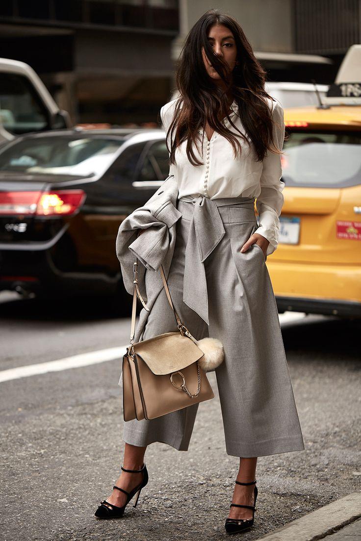 Kayla of Not Your Standard in the Helek Top, Izabelah Pant + Kallis Coat