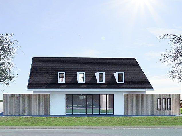 Architect nodig voor de bouw of verbouw van een moderne woning of villa bekijk de eerdere - Moderne huis op een helling ...