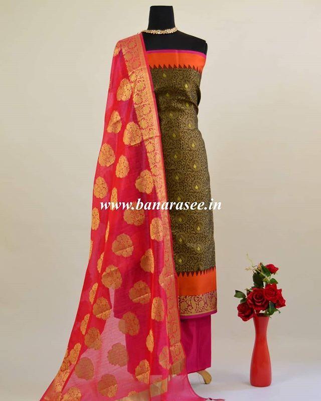 7c8dd88c34 Buy Banarasi Sari Suit Dupatta Lehenga Dress Material Online-Banarasee