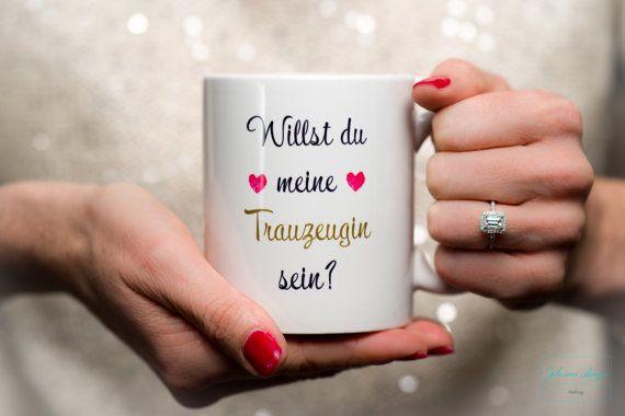 Willst du meine Trauzeugin sein?  Hochzeit Trauzeugin Tasse mit Herz Geschenk