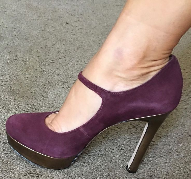 Sexy JOAN & DAVID Daquimberly Wine Suede Sz 7 Platform Pump Heels Skinny…