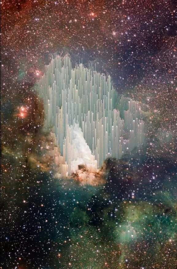 This is a pic caught by Hubble. Scientists cant figure out what it is. It looks like The Gateway to Heaven.