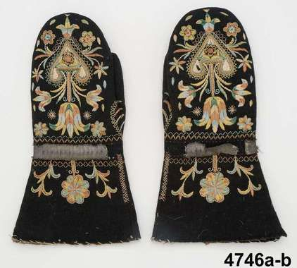 Mittens made in Skåne, Sweden, 1784