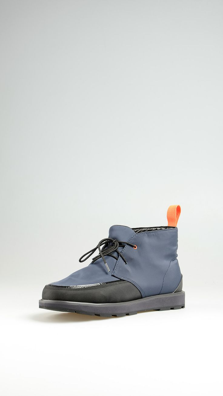 Swims Waterproof desert boots featuring a high density nylon upper and hydro guard lining, contrast rubber logo on heel tab detail and rubber anti-slip gripfast sole