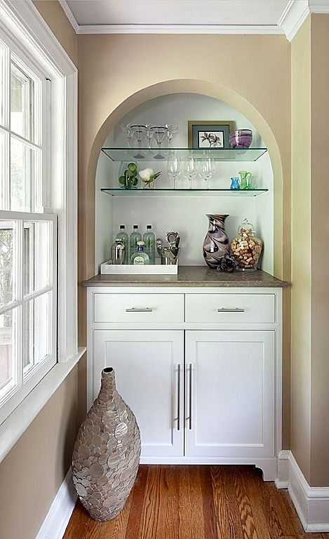 Have A Corner Nook Just Begging To Be Used? This Built In Beverage Bar
