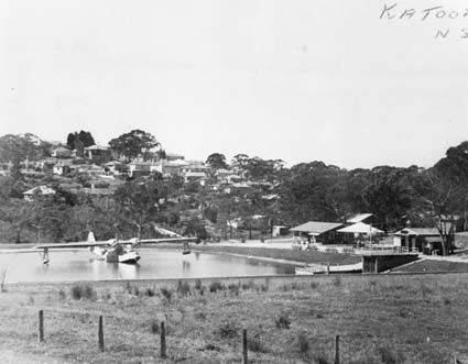 One of two Catalina flying boats purchased by the late H.C. Gates in 1948. This was dismantled and carried by truck to Katoomba in the Blue Mountains, New South Wales where it was reassembled in a low lying area which was subsequently flooded.