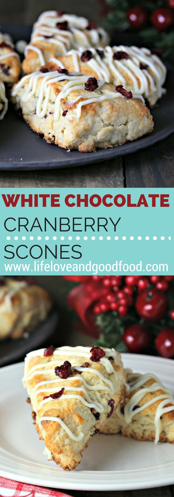 White Chocolate Cranberry Scones | Life, Love, and Good Food @ImmaculateBakes
