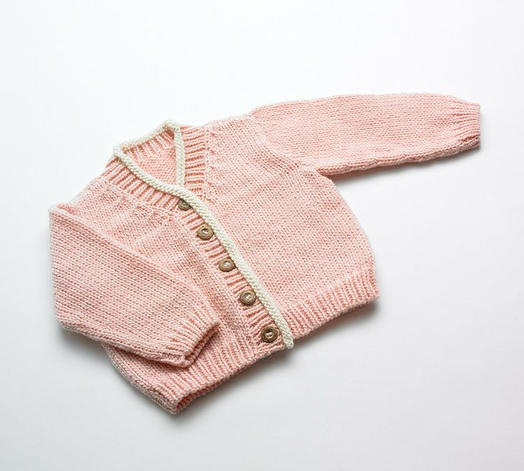 #Merino Baby cardigan - Pink Rose | Flordemano