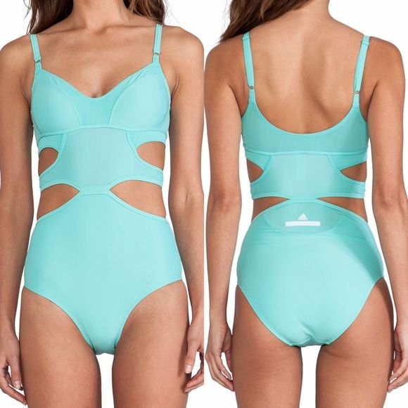 SALE Stella McCartney for Adidas Teal swimsuit Adorable teal one piece Stella McCartney for Adidas swimsuit. Awesome cutouts and support! Never worn. Still has sanitary liner and tags attached. Adidas by Stella McCartney Swim