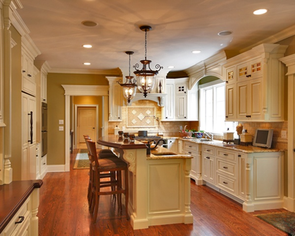 Wood eating bar top new house ideas pinterest for Cabico kitchen cabinets