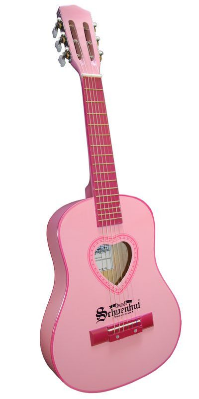 Any aspiring young musician will love Schoenhut's 30-inch Acoustic Guitar. This quality instrument, with a high-gloss lacquer wooden finish, offers great sound at a very affordable price. Tunable and