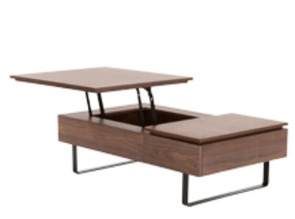 Flippa Functional Coffee Table with Storage, Walnut