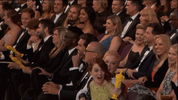 When she was more excited by the Lego Oscar than the real thing. | 21 Times Emma Stone Gave Absolutely Zero F*cks