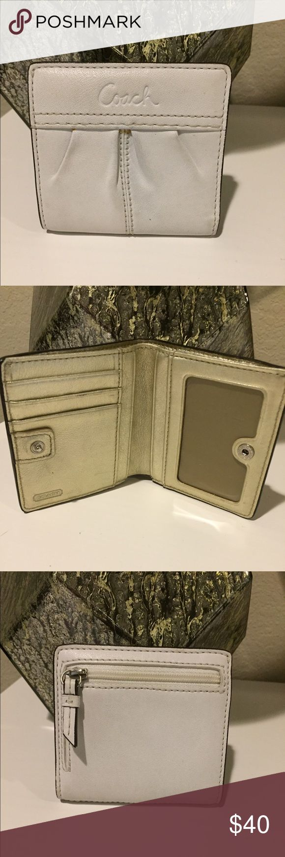 coach wholesale outlet online 45wr  Coach wallet Off white coach wallet Great condition! Goes with coach  purses in my