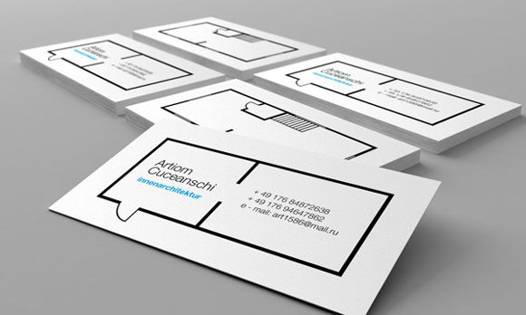 Business card for architect 34 Architects Business Card Designs