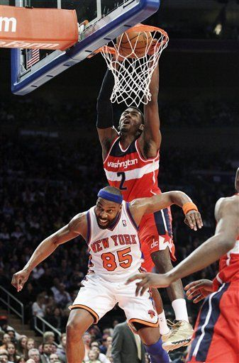 NBA Dunk of the Night: John Wall NASTY Alley-Oop Slam over Baron Davis (in HD) on www.nbadunks.org