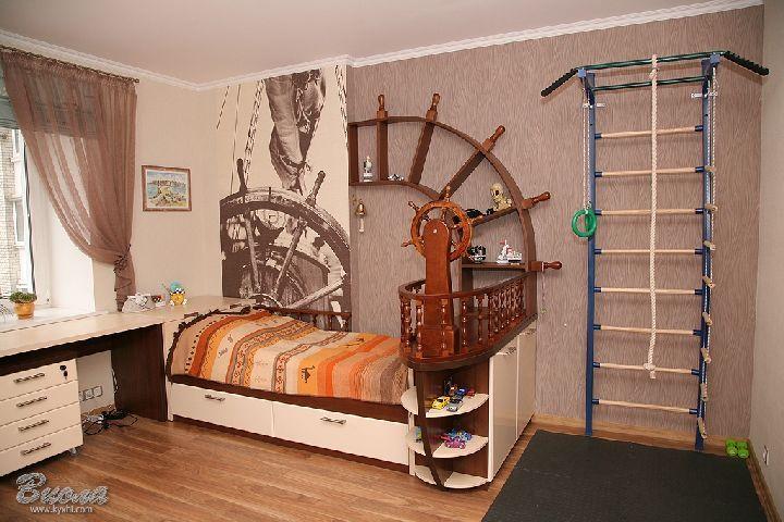 Детская в пиратском стиле своими руками: мебель и аксессуары для комнаты