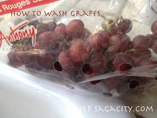 How Do You Wash Grapes? Two different ways and agents you can use to help get rid of the pesticide that is on your fruits.