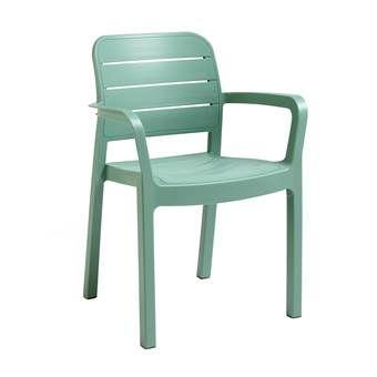 Hoe leuk is deze tuinstoel van Allibert? De Tisara is speels vormgegeven en gemaakt van hoogwaardig kunststof. De stoel is daardoor weerbestendig en onderhoudsvrij. Het brede zitvlak en de comfortabele armleuningen zorgen voor een hoog zitcomfort!