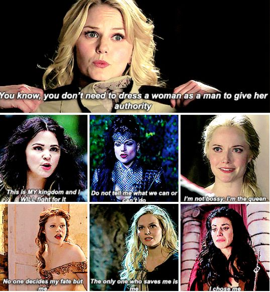 Feminism in Once Upon a Time - this is why the show is so good. They get it right more often than most other shows out there.