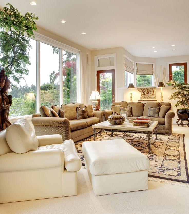 Living Room Large Windows: 1000+ Ideas About Rug Over Carpet On Pinterest
